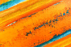 Toile peinte par abstrait photographie stock