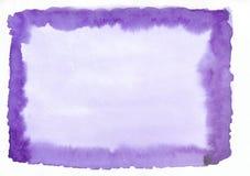 Toile rectangulaire de gradient pourpre d'aquarelle Beau fond abstrait pour des concepteurs, maquettes, invitations image stock