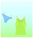 Toile sur la ficelle Image libre de droits