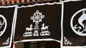 Toile tibétaine de Langmusi image libre de droits