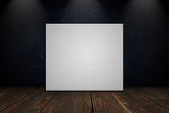 Toile vide sur un mur en béton Photo stock