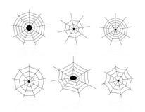 Toiles d'araignée Photographie stock libre de droits