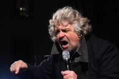 Étoiles du mouvement cinq de Beppe Grillo Images libres de droits