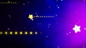 ?toiles lumineuses et brillantes Animation de boucle de CG. Fond de No?l Profil sous convention ast?risque de scintillement illustration de vecteur