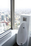 Toilet. Good view in the toilet Stock Photography