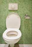 Toilet. An environmentally responsible flush toilet in a tiled lavatory Royalty Free Stock Photo