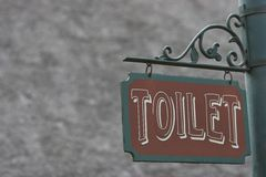 Toilet. Sign with space to add on Stock Images