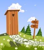 Toilet in aard stock illustratie