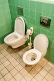 Toilet for adults and children royalty free stock images