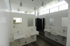 Toilet of Ara Damansara Mosque in Selangor, Malaysia. SELANGOR, MALAYSIA – JUNE 15, 2015: Ara Damansara Mosque is a modern design mosque on the green Stock Image