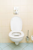 Toilet in bathroom Royalty Free Stock Image