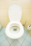 Toilet in the bathroom Royalty Free Stock Photography