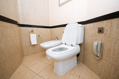 Toilet in  bathroom Stock Photography