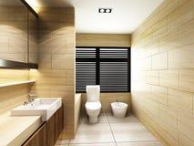 Toilet in Bathroom. Modern Toilet in Bathroom of residences or hotels Stock Photo
