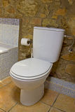 Toilet in a bathroom Stock Photography