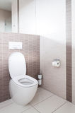 Toilet in a bathroom Royalty Free Stock Photos