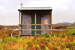 Outhouse in the bush outdoors Royalty Free Stock Image