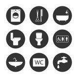 Toilet, Bathroom icon set. Vector illustration, flat design. Vector illustration, flat design. Toilet Bathroom icon set vector illustration