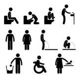 Toilet Bathroom Male Female Pregnant Handicap Public Sign Symbol Icon Pictogram Royalty Free Stock Photos
