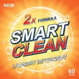 Toilet or bathroom tub soap cleanser banner ads. Laundry detergent orange Template. Washing Powder or Liquid Laundry stock illustration