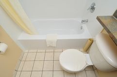 Toilet and bathtub Stock Images