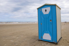 Toilet on a beach Royalty Free Stock Images