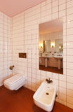 Toilet and bidet Royalty Free Stock Images