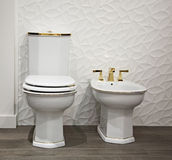 The toilet and bidet Royalty Free Stock Photo