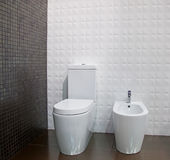 The toilet and bidet Royalty Free Stock Images