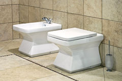 Toilet and bidet Stock Images