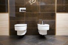 Toilet and bidet Royalty Free Stock Image