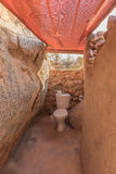 Toilet bij het Hoada-Kamp Royalty-vrije Stock Foto