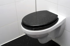 Toilet. In a black and white bathroom, luxurious glittering granite Stock Photography