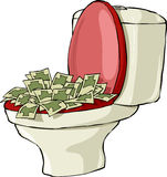 Toilet bowl Royalty Free Stock Photos