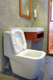 Toilet bowl in the bathroom in loft style Royalty Free Stock Images