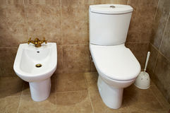 Toilet bowl and bidet Stock Photography