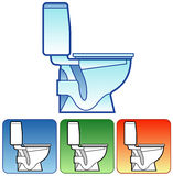 Toilet bowl color Stock Images
