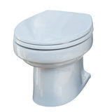 Toilet bowl. Isolated over white Royalty Free Stock Image