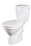 Toilet bowl isolated on white Stock Photography