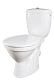 Toilet bowl isolated on white Royalty Free Stock Photography