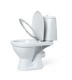 Toilet bowl isolated on white background. File contains a path to isolation. Stock Photo