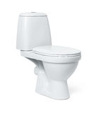 Toilet bowl isolated on white background. File contains a path to isolation. Stock Image