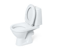Toilet bowl isolated on white background. File contains a path to isolation. Royalty Free Stock Photo