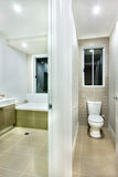 Toilet bowl  in a modern house Stock Images