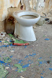 Toilet bowl in public old interior 5 Royalty Free Stock Image