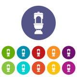 Toilet bowl set icons Stock Photo