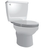 Toilet bowl. To restroom with the lid down. Vector illustration Royalty Free Stock Image