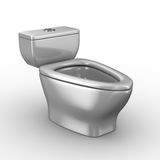 Toilet bowl on white background Stock Image