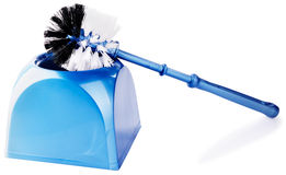 Toilet brush over white Royalty Free Stock Images