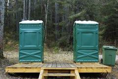 Toilet cabins Stock Photo
